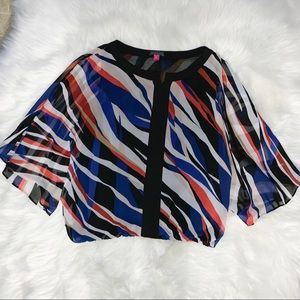 Vince Camino Multi Color Top Size Medium